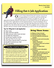 Reentry Pamphlet - Filling Out a Job Application