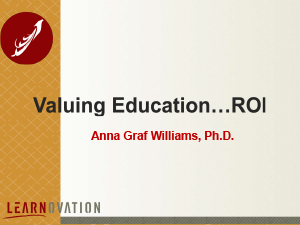 Valuing Education ROI