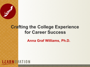 crafting the college experience